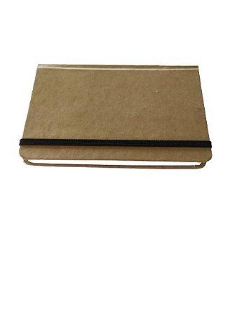 Caderneta Kraft Rústico Marrom Costurada 14x21 Artesanal G