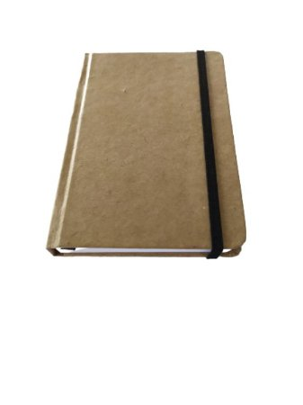 2 Caderneta Anotações 14x9 Sketchbook Kraft Rústico Marrom