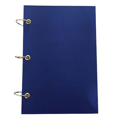 Caderno Argolado 200 Fls Pautado Pequeno Azul 3 Argolas A5