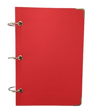 Caderno Argolado 200 Folhas Pequeno Vermelho 10 Matérias