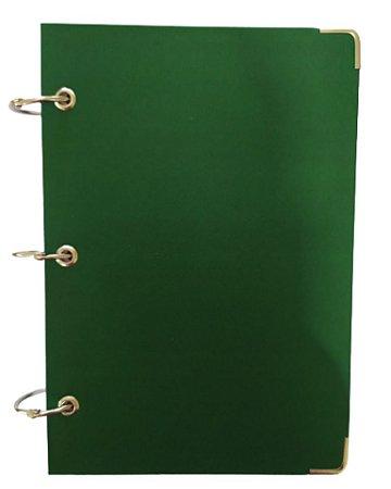 Caderno Argolado Fichário Pequeno A5 Capa Verde 10 Matérias