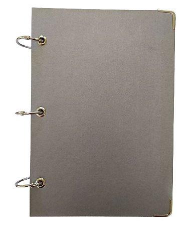 Caderno Argolado Cartonado Pequeno Cinza 10 Matérias A5