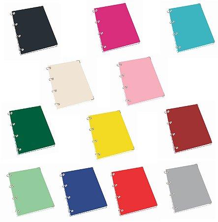 Caderno Argolado Universitário Com Pauta 20 Matérias 400 Folhas