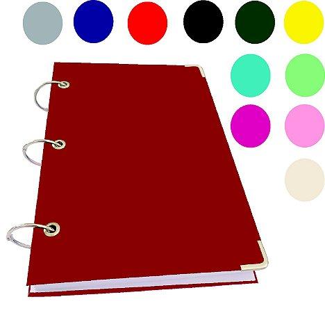 Caderno Argolado A5 Pequeno Capa Dura 400 Folhas Sem Pauta