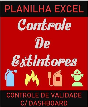 Controle de Vencimento de Extintores com dashboard - Planilha Excel