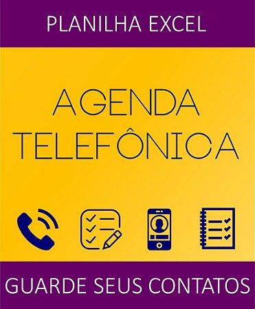 Agenda Telefônica 2019 - Planilha Excel