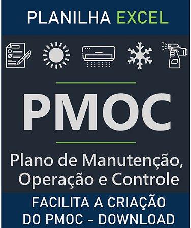 Planilha Excel PMOC - Plano de Manutenção, Operação e Controle