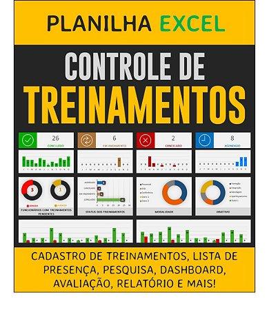 Planilha de Controle de Treinamentos - Excel