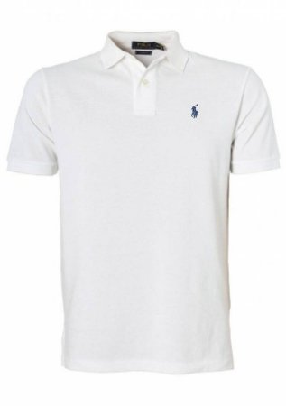 Camisa Polo Ralph Lauren Custom Fit Branca - Hombre Outlet 460fd62bf5e