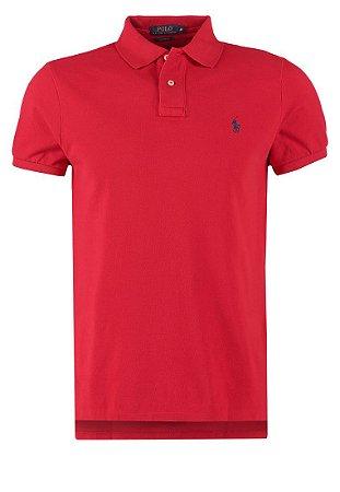 0710cb6065 Camisa Polo Ralph Lauren Custom Fit Vermelha - Roupas originais ...