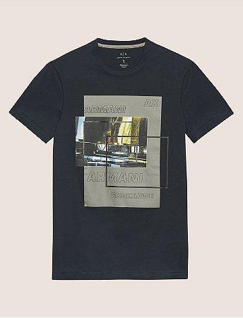 5a37e7a418e Camiseta Armani Exchange Blurred Traffic Preta - Roupas originais ...