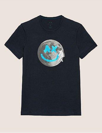 8522524efeb26 Camiseta Armani Exchange Smiles From Space Preta - Roupas originais ...