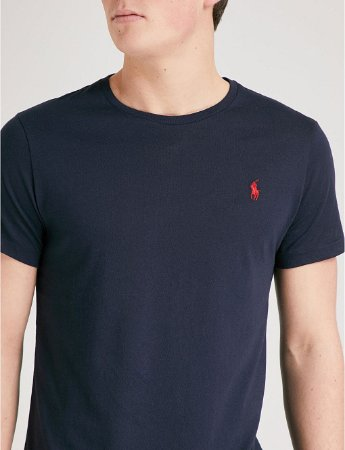 2a7e12f1bf456 Camiseta Ralph Lauren Azul Marinho - Roupas originais masculinas de ...