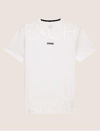 0111ce46d1 Camiseta Armani Exchange Mixed Scale Shine Branca - Roupas originais ...