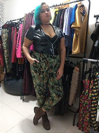 Calça skinny  plus size  militar