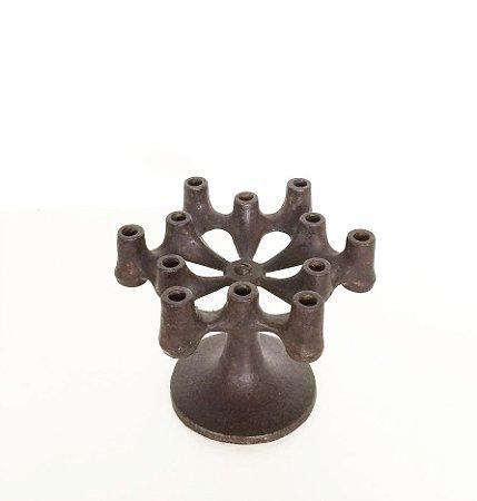 Candelabro de ferro vintage