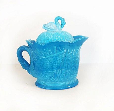 Milk Glass - Pate D'Verre - Azul