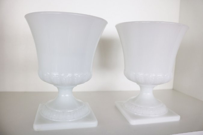 Milk Glass - Par de vasos