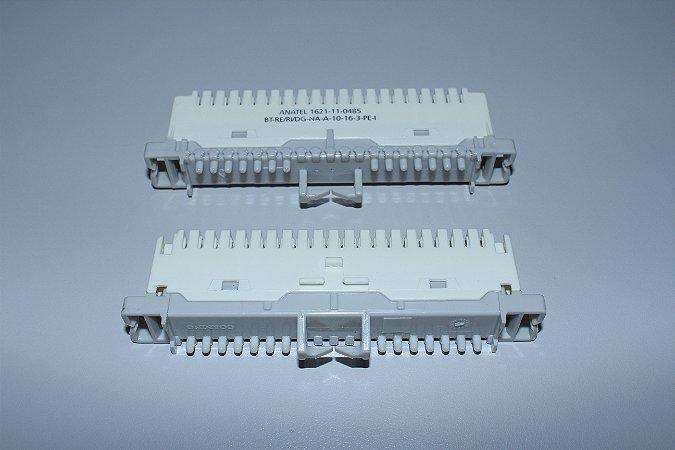 Bloco M10A NA  - para Bastidor Tipo Calha - MARFIM - Caixa c/ 10 unidades