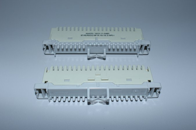 Bloco M10B NF - para Bastidor Tipo Calha - CREME - Caixa c/ 10 unidades