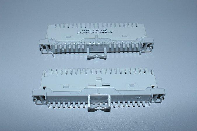 Bloco M10B CP - para Bastidor tipo Calha - CINZA - Caixa c/ 10 unidades