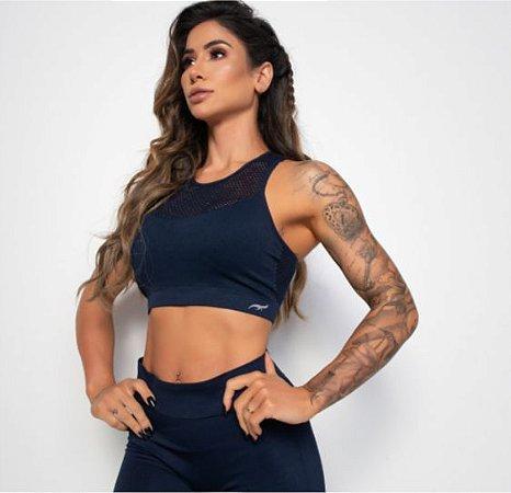 Top Fitness Crochê - HB s/ Costura c/ Bojo