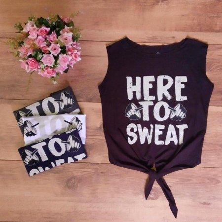 Cropped Laço - Here to Sweat