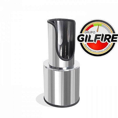 Suporte de Extintor - Aço Inox - Modelo Torre Luxo GILINOX  AP/CO²/PQS 4 à 12KG