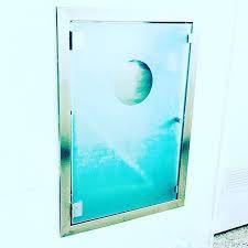Caixa de Hidrante em Aço Inox com Porta de Vidro Jateado