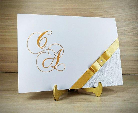 Convite de Casamento Modelo PR01 - 10 Unidades