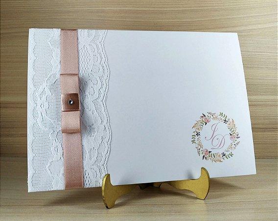 Convite de Casamento Modelo PR04 - 10 Unidades