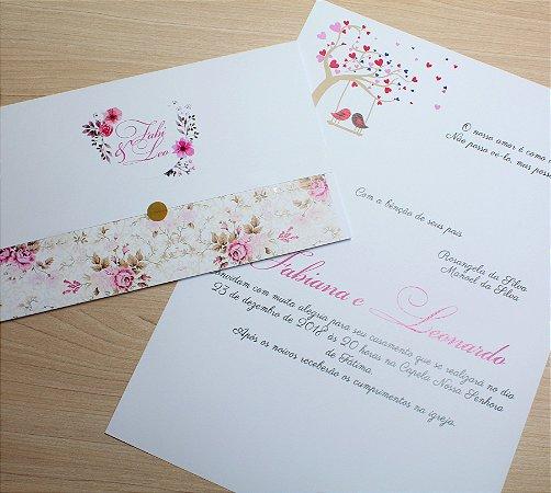 Convite de Casamento PE14 - 10 unidades