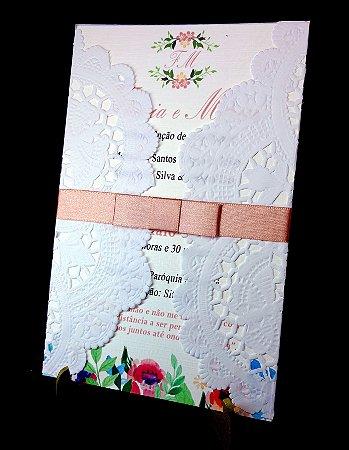 Convite de Casamento com Dollie - 10 Un. Modelo CD01