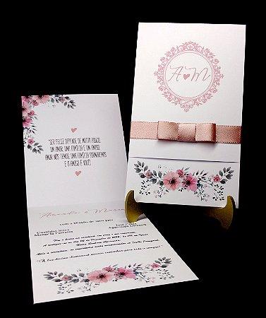 Mini Convite de Casamento - CM04 - 10 Unidades
