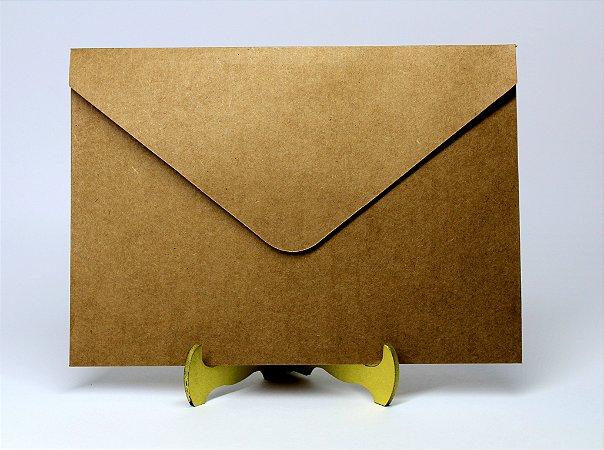 Envelope Convite Rustico Kraft 10 unidades