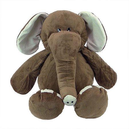 Elefante de Pelúcia 50cm Marrom