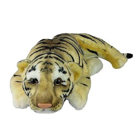 Tigre de Pelúcia Deitado Filhote Médio
