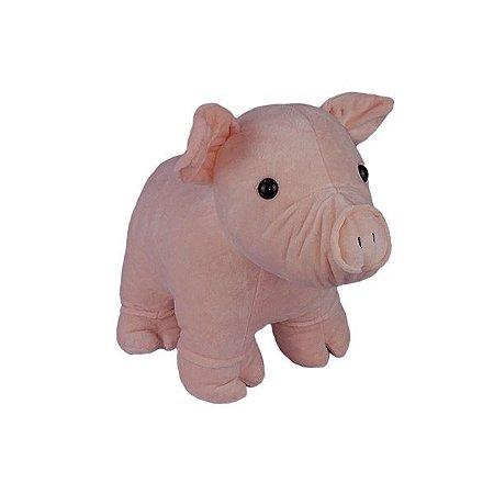 Porquinho de Pelúcia em Pé Mini