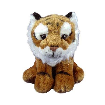Tigre De Pelúcia Sentado 20cm