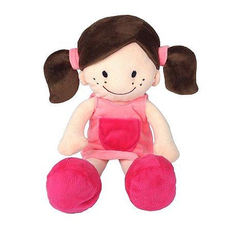 Boneca Menina de Pelúcia