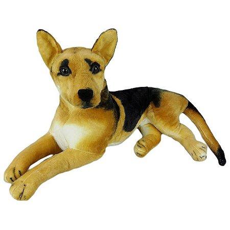 Cachorro de Pelúcia Pastor Alemão Deitado Grande