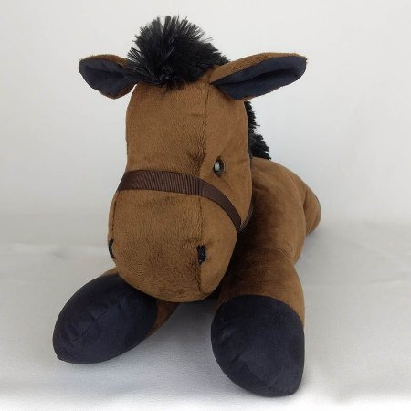 Cavalo de Pelúcia Deitado Marrom