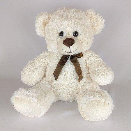 Urso De Pelúcia 46cm Creme