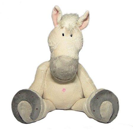 Cavalo De Pelúcia Branco - 80cm