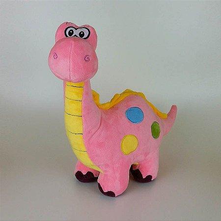 Dinossauro De Pelúcia Rosa Pequeno
