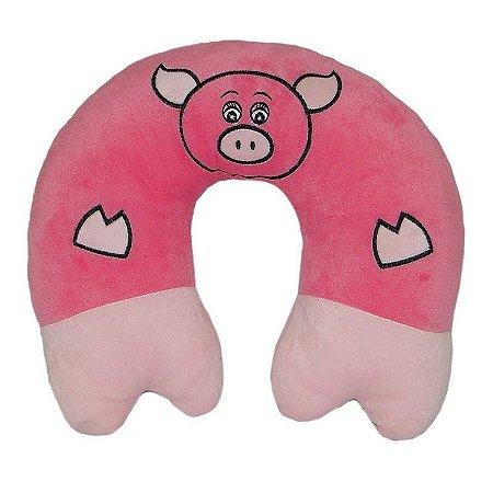 Almofada Para Pescoço Baby Porquinho