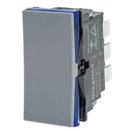 Interruptor Cinza Paralelo Pial Plus+ Legrand 611011CZ