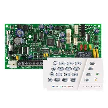 Kit Central Alarme Paradox 8 Setores SP4000 Com Teclado K636 Caixa e Trafo