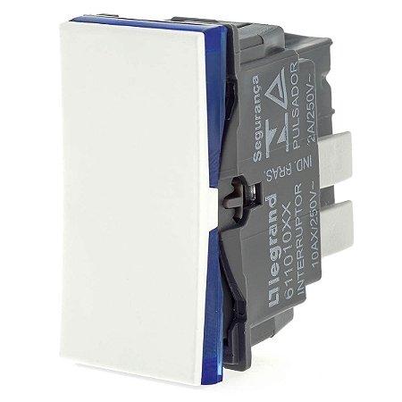 Interruptor Pulsador 2A 250V Pial Plus+ Legrand 611013BC