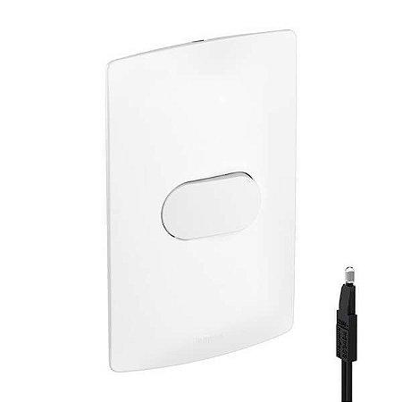 Interruptor Simples Pial Nereya Com Led Suporte Placa 4x2 Legrand